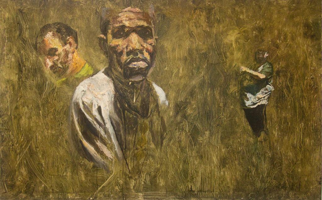 o.T., Ölfarbe auf Leinwand, 100 x 160 cm, 2016
