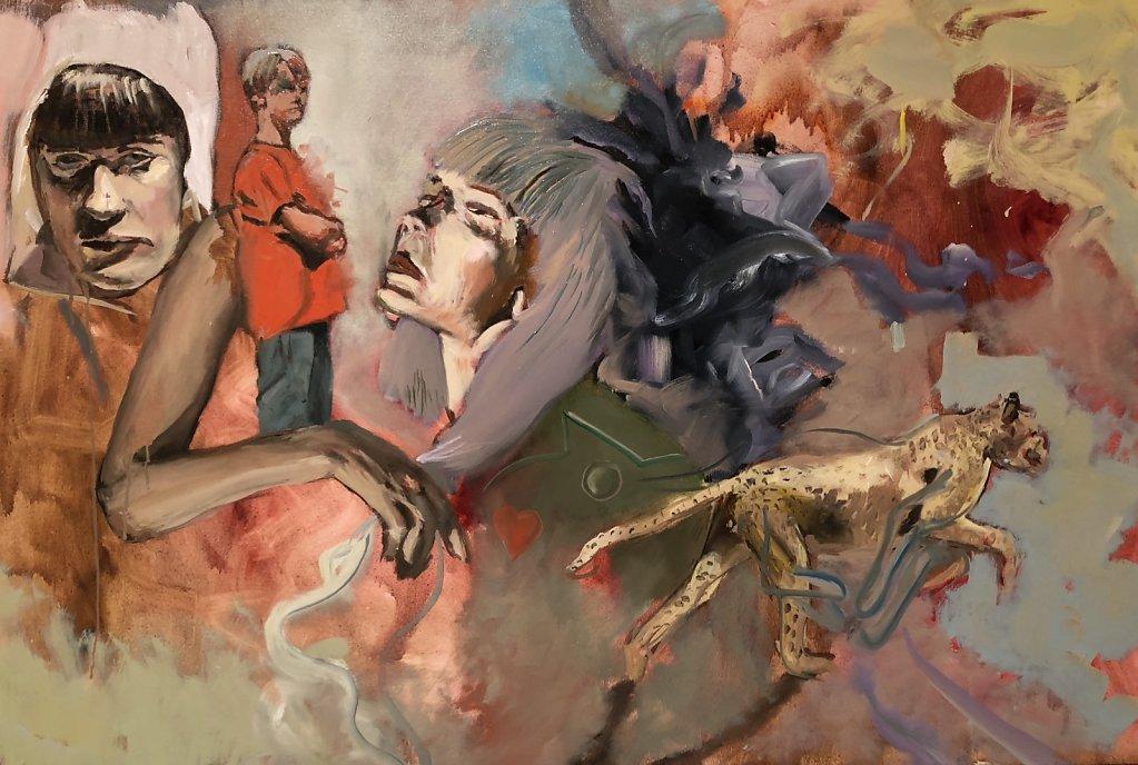 o.T., Ölfarbe auf Leinwand, 120 x 80 cm, 2018